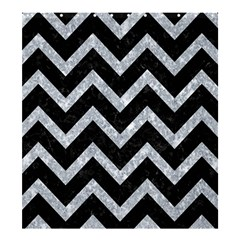 Chevron9 Black Marble & Gray Marble Shower Curtain 66  X 72  (large) by trendistuff