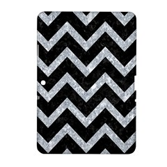 Chevron9 Black Marble & Gray Marble Samsung Galaxy Tab 2 (10 1 ) P5100 Hardshell Case  by trendistuff