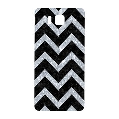 Chevron9 Black Marble & Gray Marble Samsung Galaxy Alpha Hardshell Back Case by trendistuff