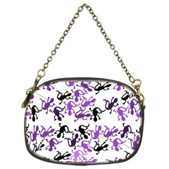Lizards Pattern   Purple Chain Purses (two Sides)  by Valentinaart