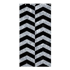 Chevron2 Black Marble & Gray Marble Shower Curtain 36  X 72  (stall) by trendistuff