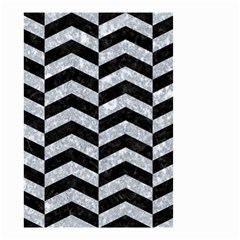 Chevron2 Black Marble & Gray Marble Small Garden Flag (two Sides) by trendistuff