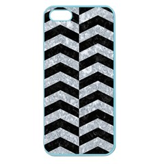 Chevron2 Black Marble & Gray Marble Apple Seamless Iphone 5 Case (color) by trendistuff