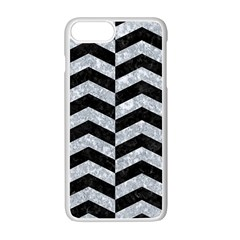 Chevron2 Black Marble & Gray Marble Apple Iphone 7 Plus White Seamless Case by trendistuff