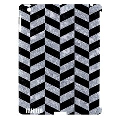 Chevron1 Black Marble & Gray Marble Apple Ipad 3/4 Hardshell Case (compatible With Smart Cover) by trendistuff