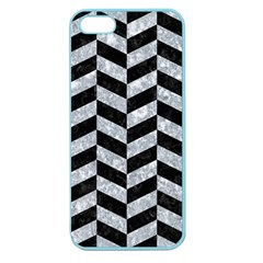 Chevron1 Black Marble & Gray Marble Apple Seamless Iphone 5 Case (color) by trendistuff