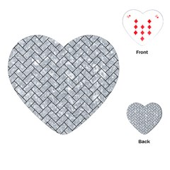 Brick2 Black Marble & Gray Marble (r) Playing Cards (heart) by trendistuff