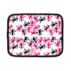 Lizards Pattern   Magenta Netbook Case (small)  by Valentinaart