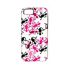 Lizards Pattern   Magenta Apple Iphone 5 Classic Hardshell Case (pc+silicone)