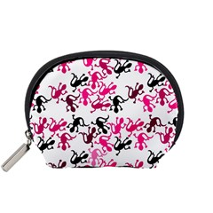 Lizards Pattern   Magenta Accessory Pouches (small)
