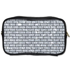 Brick1 Black Marble & Gray Marble (r) Toiletries Bag (two Sides) by trendistuff