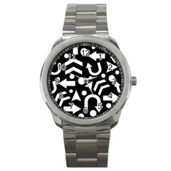 Right Direction Sport Metal Watch by Valentinaart
