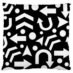 Right Direction Large Cushion Case (two Sides) by Valentinaart