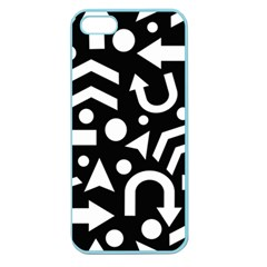 Right Direction Apple Seamless Iphone 5 Case (color) by Valentinaart