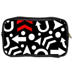 Right Direction   Red Toiletries Bags by Valentinaart