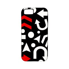 Right Direction   Red Apple Iphone 5 Classic Hardshell Case (pc+silicone)