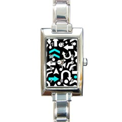 Right Direction   Cyan Rectangle Italian Charm Watch by Valentinaart