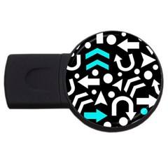 Right Direction   Cyan Usb Flash Drive Round (2 Gb)  by Valentinaart