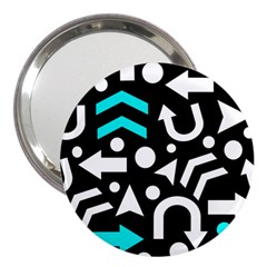 Right Direction   Cyan 3  Handbag Mirrors by Valentinaart