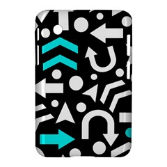 Right Direction   Cyan Samsung Galaxy Tab 2 (7 ) P3100 Hardshell Case  by Valentinaart