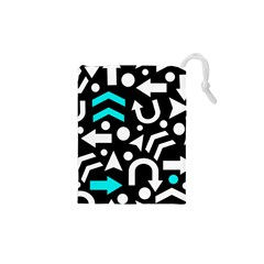 Right Direction   Cyan Drawstring Pouches (xs)  by Valentinaart