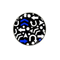 Right Direction   Blue  Hat Clip Ball Marker by Valentinaart