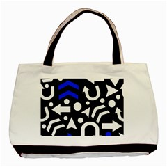 Right Direction   Blue  Basic Tote Bag by Valentinaart