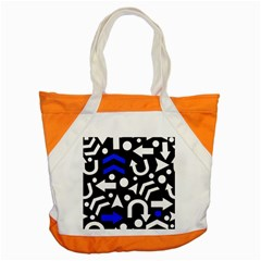 Right Direction   Blue  Accent Tote Bag by Valentinaart
