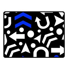 Right Direction   Blue  Fleece Blanket (small)