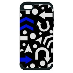 Right Direction   Blue  Apple Iphone 5 Hardshell Case (pc+silicone) by Valentinaart