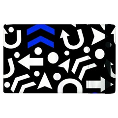 Right Direction   Blue  Apple Ipad 3/4 Flip Case by Valentinaart