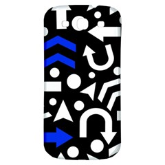 Right Direction   Blue  Samsung Galaxy S3 S Iii Classic Hardshell Back Case
