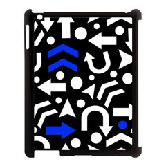 Right Direction   Blue  Apple Ipad 3/4 Case (black) by Valentinaart