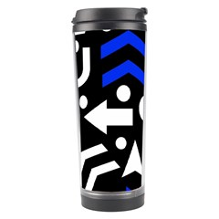 Right Direction   Blue  Travel Tumbler by Valentinaart
