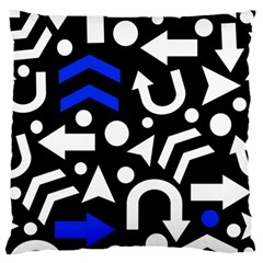 Right Direction   Blue  Large Flano Cushion Case (one Side) by Valentinaart