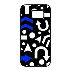 Right Direction   Blue  Samsung Galaxy S7 Edge Black Seamless Case