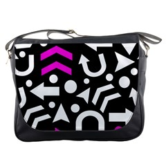 Right Direction   Magenta Messenger Bags by Valentinaart