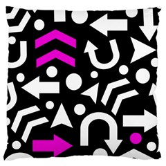 Right Direction   Magenta Large Cushion Case (one Side) by Valentinaart