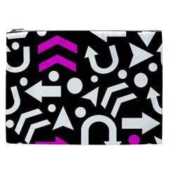 Right Direction   Magenta Cosmetic Bag (xxl)