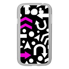 Right Direction   Magenta Samsung Galaxy Grand Duos I9082 Case (white) by Valentinaart