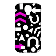 Right Direction   Magenta Samsung Galaxy S4 Classic Hardshell Case (pc+silicone) by Valentinaart