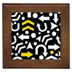 Right Direction   Yellow Framed Tiles by Valentinaart