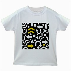 Right Direction   Yellow Kids White T Shirts by Valentinaart