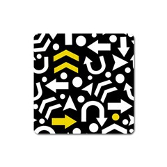 Right Direction   Yellow Square Magnet by Valentinaart