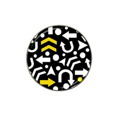 Right Direction   Yellow Hat Clip Ball Marker (4 Pack) by Valentinaart