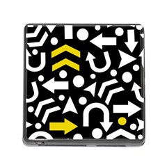 Right Direction   Yellow Memory Card Reader (square) by Valentinaart