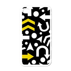 Right Direction   Yellow Apple Iphone 4 Case (white)