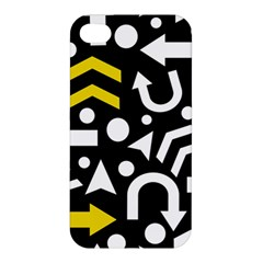 Right Direction   Yellow Apple Iphone 4/4s Hardshell Case by Valentinaart