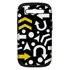 Right Direction   Yellow Samsung Galaxy S Iii Hardshell Case (pc+silicone)