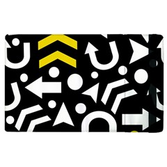 Right Direction   Yellow Apple Ipad 2 Flip Case by Valentinaart